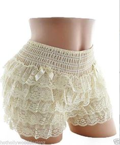 IVORY Lace Burlesque Knickers COSTUME Sissy Square Dance Pettipants Bloomers S M #Squaredance #Pettipants