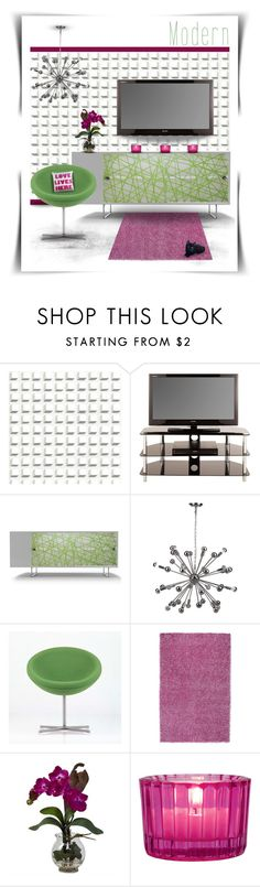 """Modern"" by joy2thahworld ❤ liked on Polyvore featuring interior, interiors, interior design, home, home decor, interior decorating, Cole & Son, Spot on Square, Safavieh and Vitra"