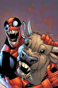 #Deadpool #Fan #Art. (Deadpool Team-Up Vol.1 #885 Cover) By: Humberto Ramos. (THE * 3 * STÅR * ÅWARD OF: AW YEAH, IT'S MAJOR ÅWESOMENESS!!!™) [THANK U 4 PINNING!!!<·><]<©>ÅÅÅ+(OB4E)