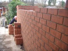 Acheson Road, Shirley, Solihull, B90.  Ken laying the bricks.