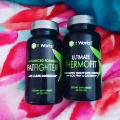 ✌These two products together really rock for weight loss! IT WORKS FAT FIGHTERS block calories, carbs and fats while the THERMOFIT boosts metabolism helping burn more fat! You can place your order TODAY as a LOYAL CUSTOMER and get these AAAAH-MAZING products at my discount price!