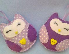 Handmade felt hearts set of 12 by LITTLEFACTORYCRAFTS on Etsy