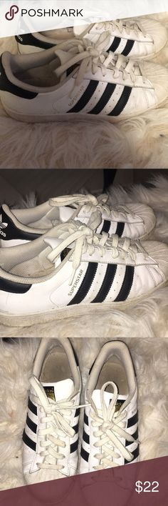 Adidas Superstars Normal 8.5 Adidas Superstars. Clearly worn and used adidas Shoes Sneakers