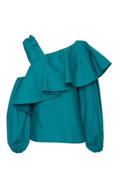 Cold Shoulder Puff Sleeve Top by Viva Aviva