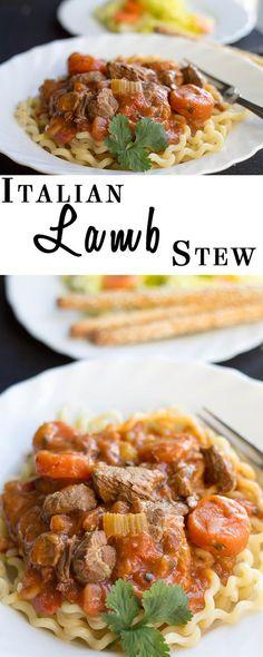 Italian Lamb Stew On Pasta