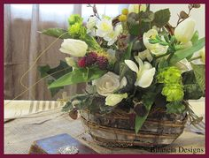 "Berries and Bark Basket designed by Bilancia Designs for ""The Cowgirl Wedding Line."