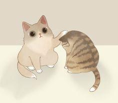 고양이 일러스트 :D