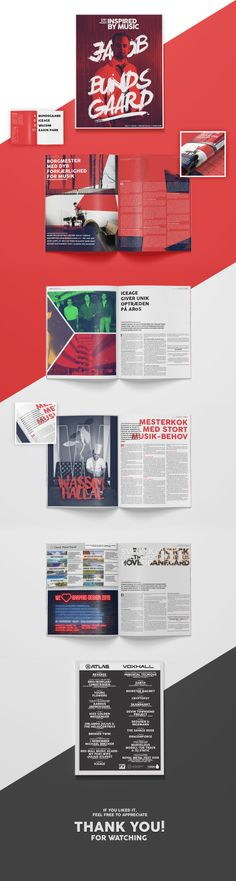 INSPIRED BY MUSIC School assignment. In between my internship i have a few weeks of school each year. This time 3 weeks. We were given a project of an 10 page magazine + front & back page + logo...