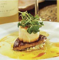Breaded Diver Scallops, Celery &  Apple Remoulade, Grilled Foie Gras,  Caper Emulsion ByChef Laurent Tourondel, New York