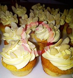 Almonds cupcakes and buttercream. #PopCake