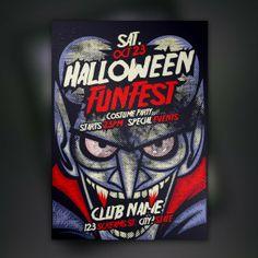 Halloween funfest vector