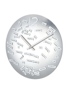 "Kirch & Co. Convex Love Poem Clock. Magnetic ""love"" words you can create your own poems with."
