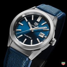 TAG HeuerCuenta verificada @TAGHeuer Don't compromise on quality, choose the TAG Heuer Carrera Lady Blue Dial Denim Strap. More at: http://tag.hr/BaselWorld2017 #Baselworld2017
