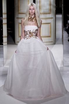 Giambattista Valli Haute Couture 2013...Simple but elegant. You can add more embellishments that fit your budget. Ask your dressmaker for options.