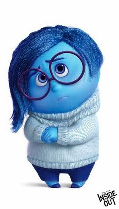 We all feel sadness sometimes - and never better illustrated than by the character Sadness from Disney Pixar's Inside Out.: