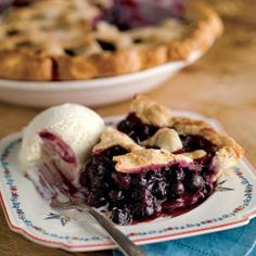 Williams Sonoma Blueberry Pie Recipe