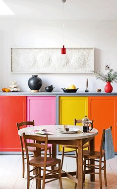 painted doors home interior .Tropical Island Decor www. a cool place to sleep, dream or read. Kitchen Cabinet Colors, Kitchen Colors, Kitchen Cabinets, Modern Cabinets, Küchen Design, House Design, Design Ideas, Cuisines Design, Painted Doors