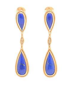 FERNANDO JORGE | 18K Rose Gold and Lapis Lazuli Fluid Drop Earrings