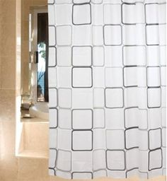 PEVA Bathroom Soft Touch Waterproof Fabric Shower Curtain with 12 Hooks Bathroom Shower Curtains, Fabric Shower Curtains, Waterproof Fabric, Hooks, Touch, Prints, Wall Hooks, Crocheting