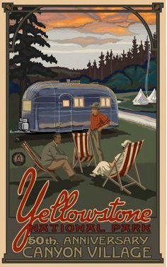 We love vintage travel posters, don't you? Store your RV at westcoastselfstorage.com.