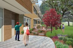 Rendering of the new Reading Garden. Did you know you can buy a personalized brick to be installed in the Reading Garden? Find out more here: http://bit.ly/2b44aXt