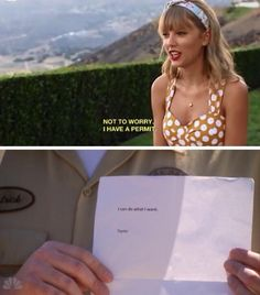 "When someone questions Taylor: ""Not to worry I have a permit"" ""I can do what I want. Taylor"""