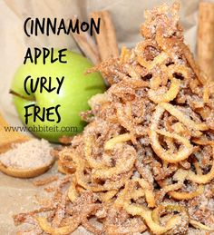 ~Cinnamon Apple Curly Fries! – Oh Bite It