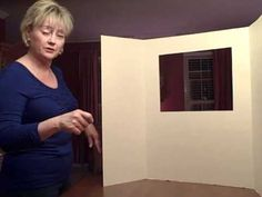 Create a puppet stage from a display board.