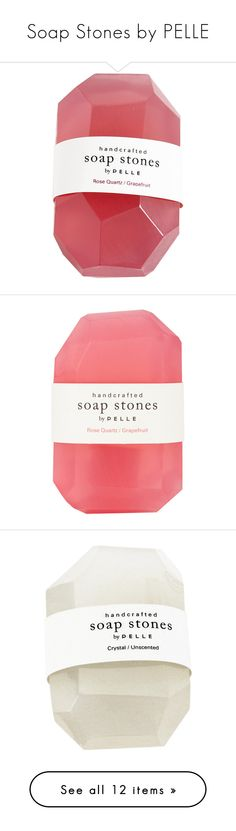 """Soap Stones by PELLE"" by ouchm4rvel ❤ liked on Polyvore featuring beauty products, bath & body products, body cleansers, fillers, makeup, beauty, bath, jean & oliver pelle, pink fillers and accessories"