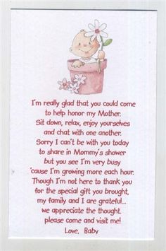 seed poems for babyshower | Baby Shower Favor Pink Baby in a Pot Seed ...