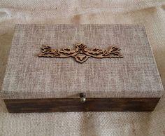 Arte lá em casa: Caixa para Presente/Porta Bijoux/Organizadora - Ru...