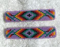 Native American beaded barrettes