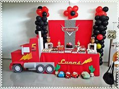 Lucas Birthday cars party | CatchMyParty.com