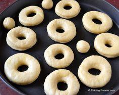 Eggless Baked Donuts (Doughnuts) Recipe with Chocolate Glaze Baked Donut Recipes, Baked Donuts, Doughnuts, Chocolate Glaze, Melting Chocolate, Kids Snack Box, Donut Maker, Egg Free Recipes, Donut Glaze