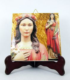 Saint Philomena of Rome St. St Ceramic Tile  by TerryTiles2014