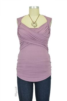 Toni Sleeveless Nursing Top in French Mauve