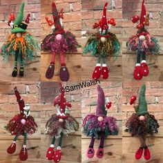 Needle Felted gnomes and Tomtes Needle Felting, Wool Felting, Felt Gifts, Christmas Wreaths, Christmas Ornaments, Quirky Gifts, Soft Sculpture, Handmade Christmas, Gnomes