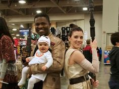"This real life Rey, Finn, and BB-8 ""Star Wars"" family is giving us all sorts of life goals"