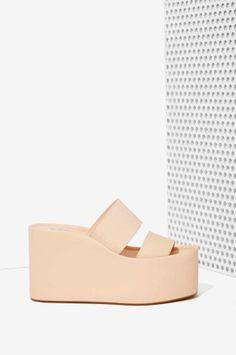 Jeffrey Campbell Carine Leather Platform | Shop Shoes at Nasty Gal