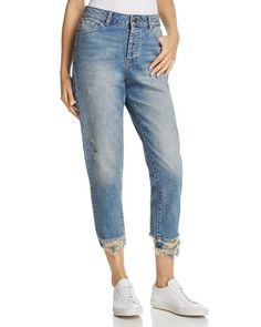 DL1961 Goldie High Rise Tapered Jeans in Puzzle