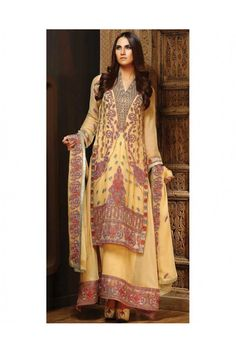 Pull off this Yellow coloured Salwar Suit made of chiffon in order to look gorgeous and appealing. #womensethnicwear #ethnicwearforwomen #Pakistanilawnsuitforwomen #lawnsuits  https://trendybharat.com/women/ethnics-wear/women-ethnic-wear-pakistani-lawn-suits/yellow-chiffon-salwar-suit-set-ma0197