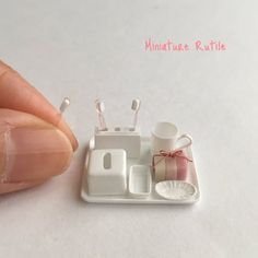 Miniature bathroom ♡ ♡ By rutile