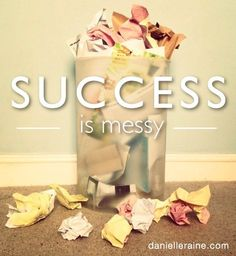 Success is messy. How to enjoy more success on the home front if you're an Undomestic Creative. Happiness Study, Coaching Questions, Creativity Quotes, Life Words, Secret To Success, Success Mindset, Life Design, Going To Work, Wonderful Things