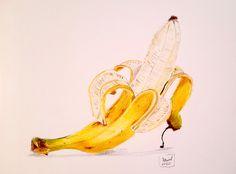 #banana #art #colored #pencil #fruit #yello Banana Art, Pencil Drawings, Colored Pencils, Fruit, Pencil, To Draw, Kunst, Colouring Pencils, Crayons