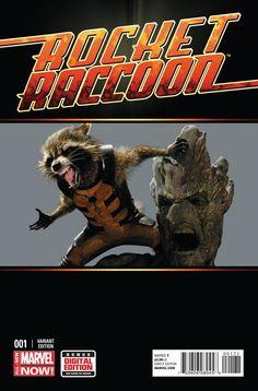 Rocket Raccoon #1 movie variant cover.