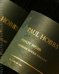Wine Labels - Paul Hobbs  Pinot Noir #cGreens