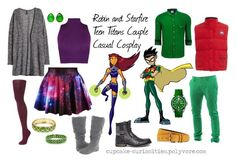 Robin and Starfire Teen Titans Couple Casual Cosplay Teen Titans Outfits, Teen Titans Costumes, Batman Outfits, Princess Inspired Outfits, Disney Inspired Fashion, Disney Fashion, Outfits For Teens, Cool Outfits, Fashion Outfits