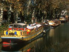 Peniches on Canal du midi