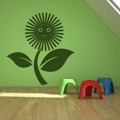 Cartoon Flower Wall Art Sticker Decorative Wall Decal - Flowers - Floral & Trees - Home & Living