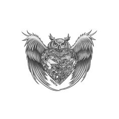 diamond owl #drawing #illustration #art #illustrator #pencil #sketch #artist #tattoo #tattoodesign #owl #diamond